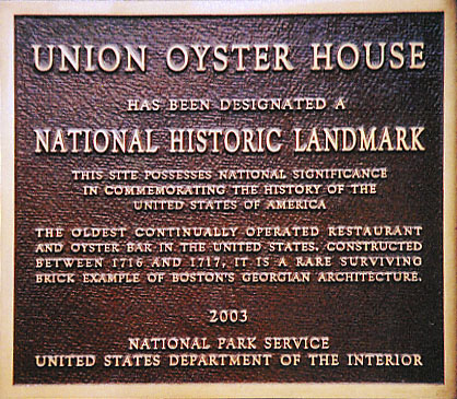 Union Oyster House Boston Ma Seafood And History At America 39 S Oldest Restaurant